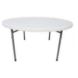 4 ft plastic round table