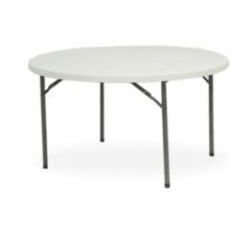 6 ft plastic round table